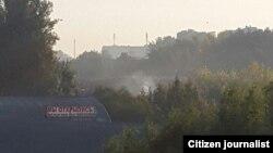 Fire in Tashkent