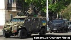 Вулиці Одеси патрулюють спецпідрозділи. Фото Управління СБУ в Одеській області