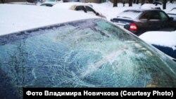 Разбитый автомобиль депутата
