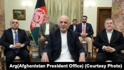President Ghani during a televised speech addressing the recent political issues in the country.
