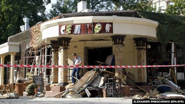 """Кафе """"Сепар"""", где взорвали Захарченко"""