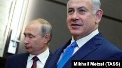 Биньямин Нетаньяху на переговорах с Владимиром Путиным в Сочи, август 2017 года