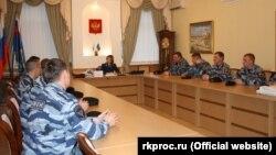 Поклонская на встрече с бойцами «Беркута»