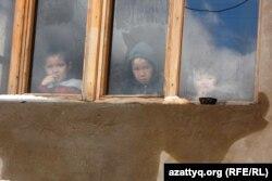 Жаңа әкімшілік-іскерлік орталық аумағының кішкентай тұрғындары. Шымкент, 7 сәуір 2014 жыл.