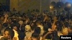 Антиправительственная демонстрация в Сирии