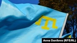 Qırımtatar bayrağı, tasviriy fotoresim
