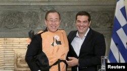 Ban Ki Mun i Aleksis Cipras, 18. jun 2016.