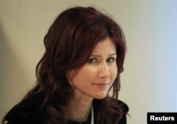 Anna Chapman back in Moscow in December 2010