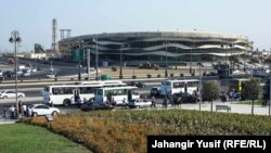 Azerbaijan -- The Olympic Stadium in Baku built for the 2015 European Games, August 2014.