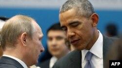 Ռուսաստանի նախագահ Վլադիմիր Պուտինն ու ԱՄՆ-ի նախագահ Բարաք Օբաման, արխիվ