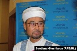 Заместитель председателя Духовного управления мусульман Казахстана, наиб-муфтий Серикбай-кажы Ораз. Астана, 18 сентября 2017 года.