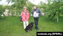 Мікалай Аўтуховіч зь вядоўцай праграмы Аленай Струвэ