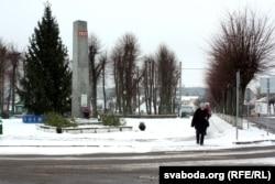 Помнік камуністычнай дэманстрацыі 1927 году ў цэнтры Косава