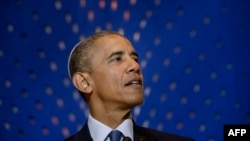 Барак Обама выступает в Вашингтоне 22 мая 2015 г.