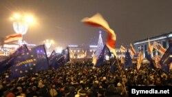 Кастрычніцкая плошча 19 сьнежня 2013