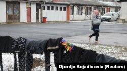 Лагерь для мигрантов с Ближнего Востока в окрестностях Белграда. Иллюстрационное фото