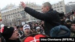 Сергей Удальцов на праздновании масленицы на площади Революции