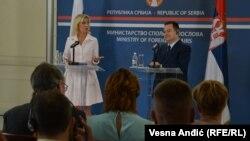 Marija Zaharova, portparoka MIP Rusije, i Ivica Dačić, šef diplomatije Srbije