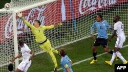 Gjatë takimit FRanca - Uruguaji në Botërorin 2010.