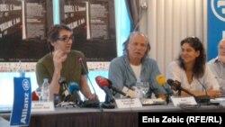 Rade Šerbedžija, Lenka Udovički and Aleksandar Popovski na predstavljanju nove sezone Ulyssesa, 19. lipanj 2012.