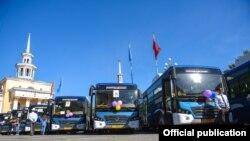 Кытайдан сатып алынган автобустар. 2017-жыл, май.