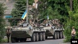 Українські військові у Волновасі на Донеччині, 22 травня 2014