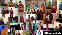 بخشی از مجموعه عکس های مردان با لباس زنانه که در صفحه کمپین آمده است
