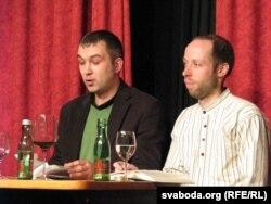 З Альгердам Бахарэвічам на чытаньнях у Пасаў, 11.01.2011
