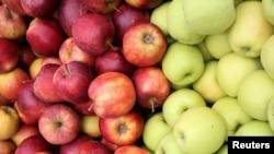 Польскія яблыкі таньнейшыя за беларускія