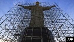 Statua Isusa u Rio de Žaneiru - ilustracija