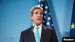 U.S. Secretary of State John Kerry in Germany on January 31