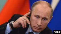 Russian President Vladimir Putin during the working meeting with EU leaders in Yekaterinburg on June 4
