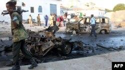Pamje e vendit pas një sulmi të mëparshëm të grupit al-Shabaab në Somali