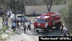 Архивска фотографија: Самоубиствен бомбашки напад во градот Хуџанд во септември 2010 година.