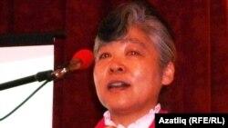 Корея халыклары телен өйрәтүче ханым – кореялы Ким Хе Сен