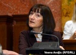 "Ljiljana Smajlović, bivša glavna i odgovorna urednica ""Politike"""