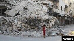 Руїни у північному сирійському місті Аріха в провінції Ідліб, 8 вересня 2013 року