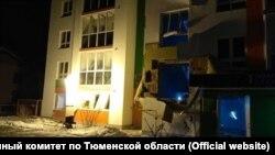 Дом, в котором произошел взрыв газа
