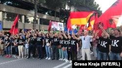 Фотографија од еден од последните протести на албанската опозиција во Тирана.