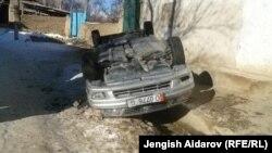 Kyrgyzstan - Kyrgyz village near Charbak Uzbek enclave Sokh. Riots occurred here on January 6 that led to taking Kyrgyz hostages, 07Jan2013