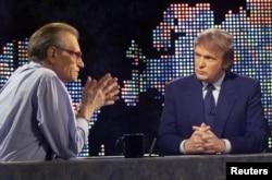 Интервью Ларри Кинга с Дональдом Трампом в 1999 году, когда он впервые говорил о намерении бороться за пост президента США