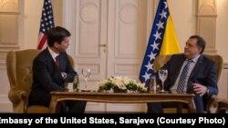 Eric George Nelson i Milorad Dodik u Predsjedništvu BiH, Sarajevo