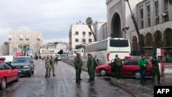Сили безпеки Сирії оточили місце, де стався напад, Дамаск, 15 березня 2017 року