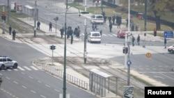 Перекрёсток в Сараеве в момент инцидента со стрельбой, 28 октября 2011 г.
