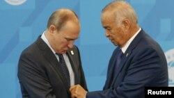 Президенти Росії та Узбекистану Володимир Путін та Іслам Карімов (фото архівне)