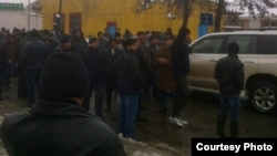 Акция протеста в Лянкяране. Архивное фото