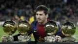 Lionel Messi și cele patru Ballon d'Or (Golden Ball)