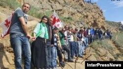 Акция грузинских активистов в Давид-Гареджи, 5 мая 2019 г.