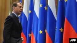 Președintele Dmitri Medvedev la încheierea rundei de convorbiri Rusia-UE de anul acesta