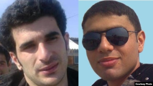 Azerbaijani poets Shahryar Hajizadeh and Farid Husseinov